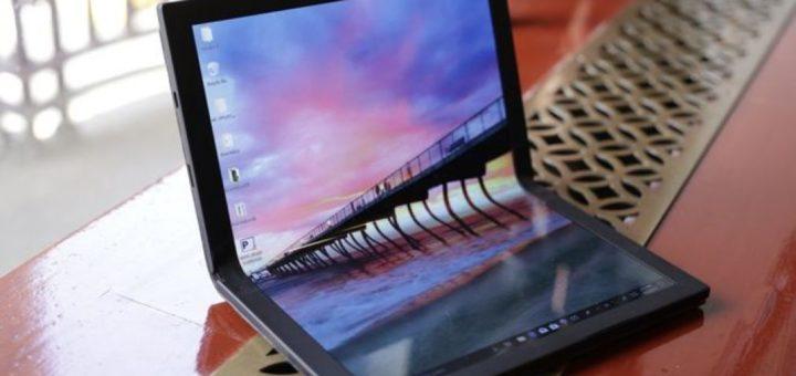 Lenovo anunță un nou laptop cu ecran flexibil pliabil